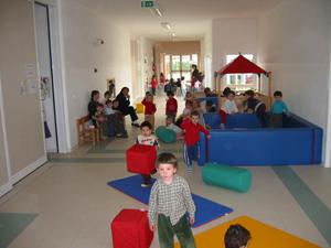 Una stanza dell'asilo nido di via Manzoni
