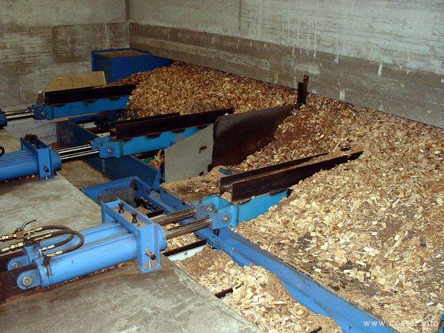 Il cippato di legno nella centrale di Morgex