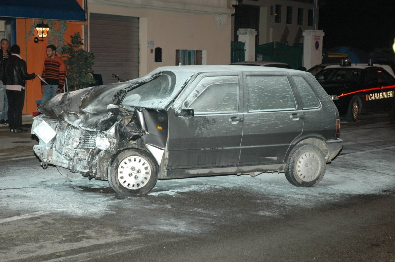 Un'immagine dell'incidente avvenuto a Monsampolo