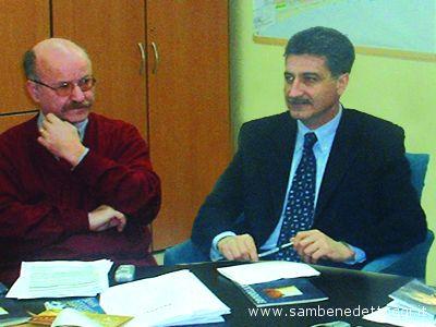 L\'ex assessore Franco Falasca Zamponi e il sindaco Luigi Merli