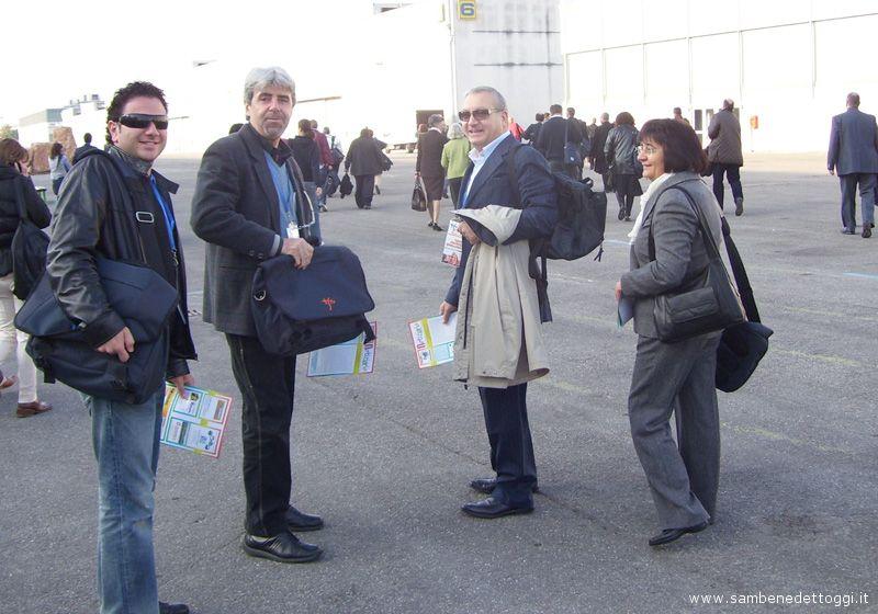 Dalla parrocchia di San Filippo Neri a Verona: Roberto Crescenzi, Umberto Silenzi, Nicola Farinelli e la signora Pina