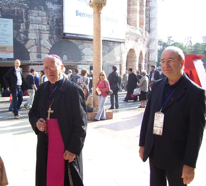 Don Gabriele Paoloni e Monsignor Gervasio Gestori a Verona