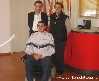 Da sinistra: il responsabile progetti della Fondazione Laureus Nicolas Raffieri, Claudio Carelli e Antonio Spinelli