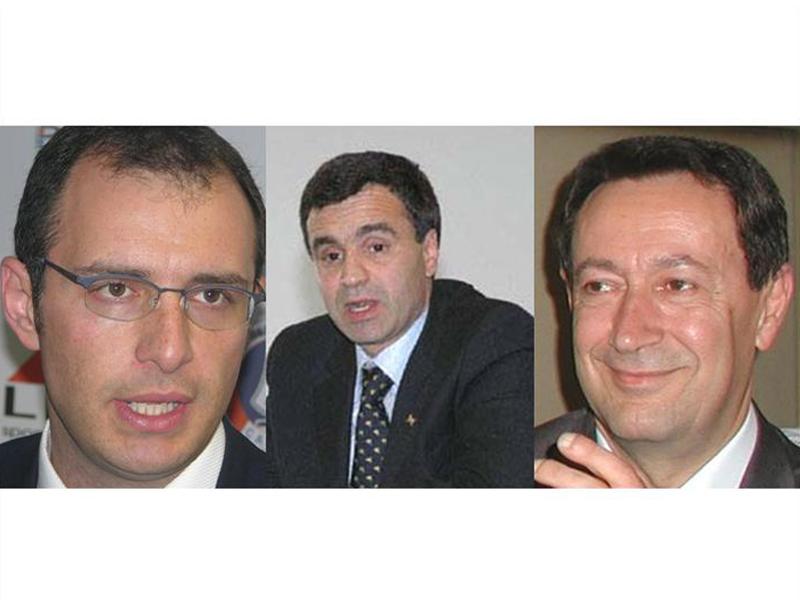 Bruno Gabrielli, Marco Lorenzetti e Pasqualino Piunti