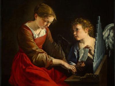 Un quadro rappresentante Santa Cecilia