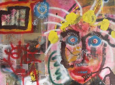 Un'opera di Paul Kostabi