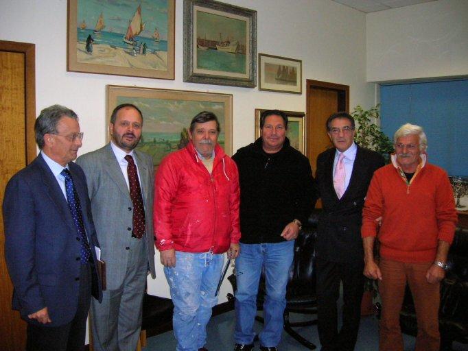 La delegazione dei pescatori ha incontrato in Comune il sindaco Gaspari