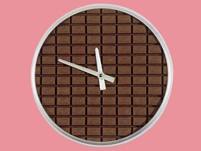 Un orologio di cioccolata da Guinness