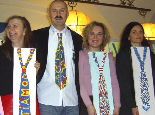 Moscardelli e Arte in kravatta