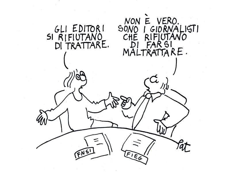 giornalisti in sciopero