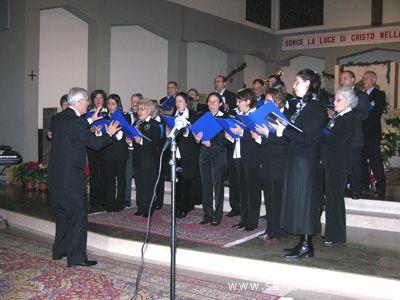 La Corale Tebaldini in un concerto alla Chiesa di San Pio X