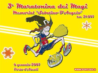 Sabato 6 gennaio 2007 al via la terza edizione della Maratonina dei Magi