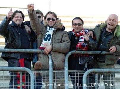 Samb-Rimini 0-1. Inossidabili tifosi rossoblu