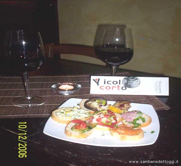 Vinti due aperitivi al Vicolo Corto