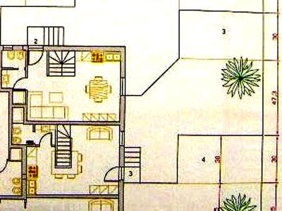 La piantina di un appartamento in vendita