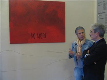 Teodosio Campanelli con Massimo Rossi, presidente della Provincia di Ascoli Piceno