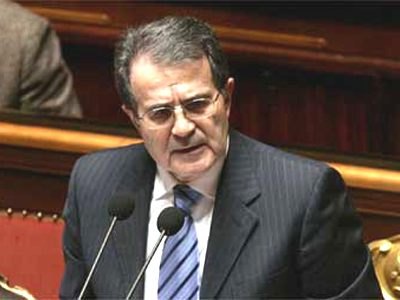 Romano Prodi interviene in Senato
