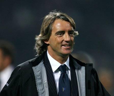 L'allenatore dell'Inter Roberto Mancini