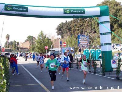 Maratonina di Centobuchi 2007: un momento della gara competitiva (21 km)