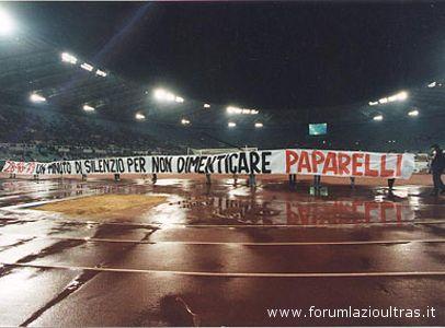 I tifosi della Lazio ricordano Vincenzo Paparelli