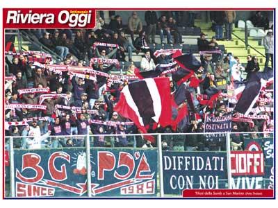 Il poster rossoblu nel numero 666 di Riviera Oggi