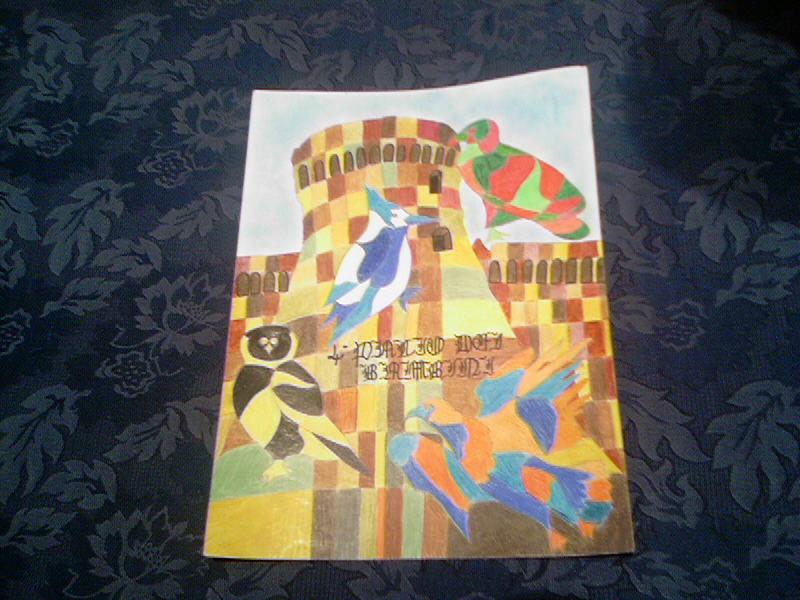 Il Drappo 2007 del Palio dei bambini, realizzato da Moira Coccia