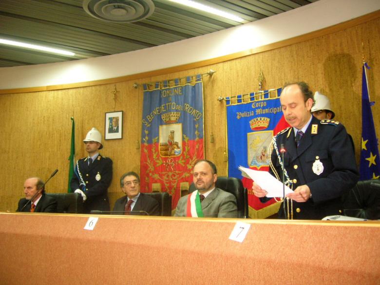 Il Comandante della Polizia Municipale di San Benedetto Pietro D'Angeli