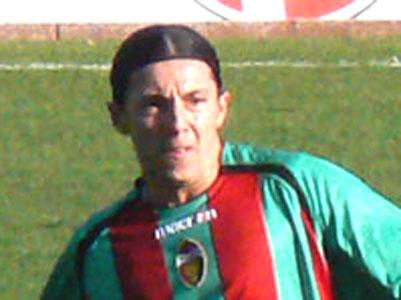 Il giocatore della Ternana Cardona, che a fine partita, domenica scorsa, ha inseguito i giocatori del Manfredonia dopo il gol del 2-1