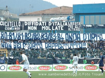 Cavese-Samb 2-1. Messaggio su carta per la curva metelliana