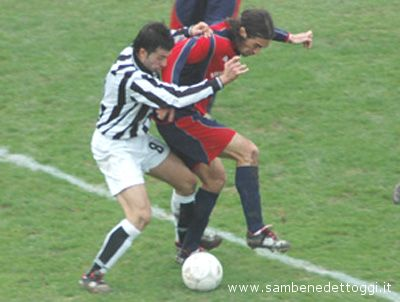 L'argentino Jonathan Vidallè in azione con la maglia della Samb