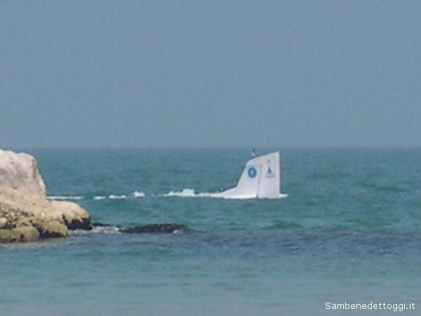 Così appariva l'aereo appena caduto in mare