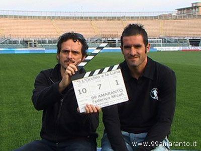 il regista Federico Micali con il calciatore Cristiano Lucarelli
