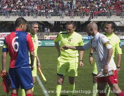 Samb e Ravenna prima dell'inizio della partita