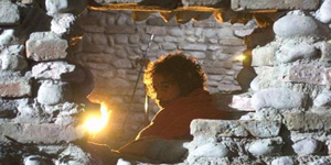 Raz Degan durante le riprese del film