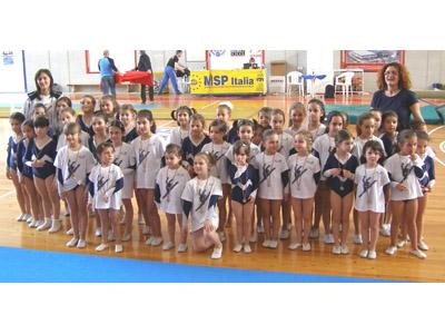 Le ginnaste, categoria Giovanissime, della Mamoti