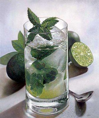 Un invitante bicchiere di Mojito