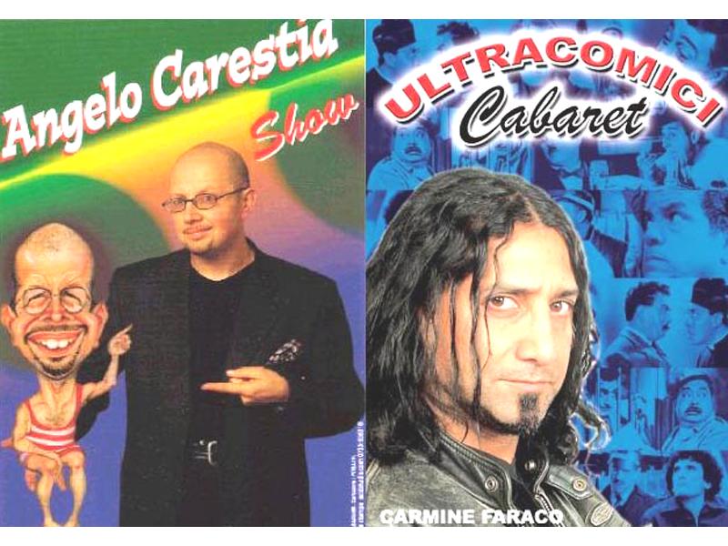 Il poster dei comici Angelo Carestia e Carmine Faraco