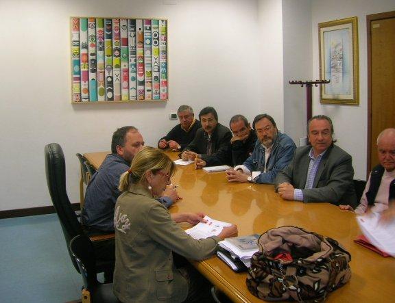 Il sindaco Gaspari e l'assessore Emili durante l'incontro con i sindacati