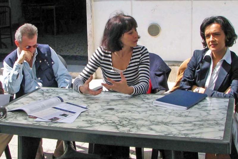 Alessia Consorti (al centro) dello Slow Food Convivium di San Benedetto