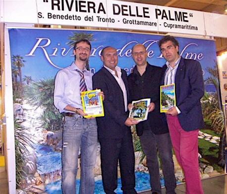Fiera del tempo libero: da sinistra Aureliano Mascaretti, Daniele Gatti, Andrea Perugini e Umberto Scartozzi