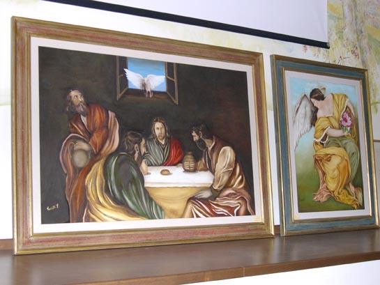 Due tele dell'artista grottammarese Palmirra Vecchiotti