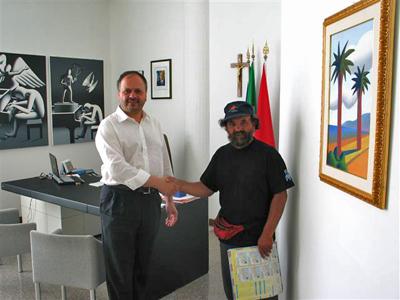 Joel Buton e il sindaco di San Benedetto del Tronto Giovanni Gaspari