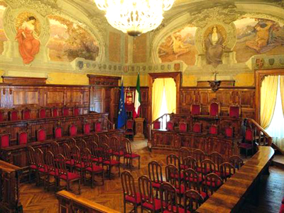 L'aula del Consiglio Provinciale di Ascoli