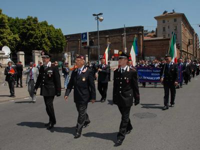 Una sfilata dei Carabinieri di San Benedetto