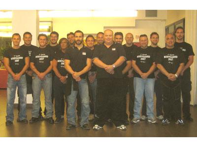 Gli istruttori che hanno tenuto il primo corso per BodyGuard del Centro Italia