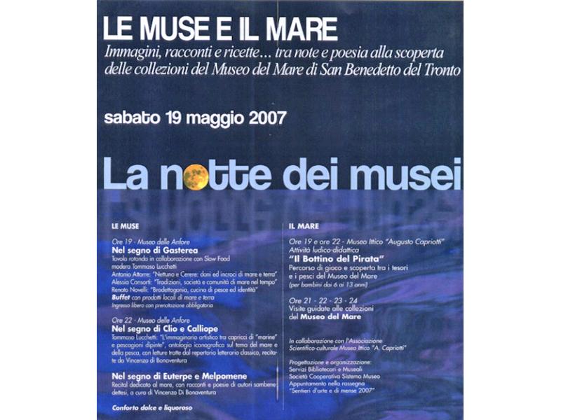 La notte dei musei 2007. Il programma