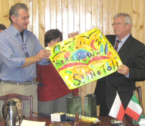 Carlo Gentili in Polonia con il gruppo