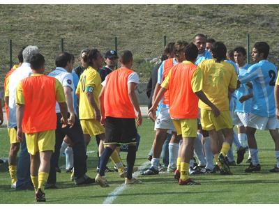 Penne-Centobuchi 0-1. Momenti di tensione tra le due squadre a fine primo tempo