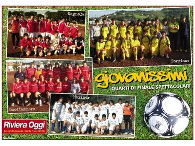 Poster dedicato al calcio giovanile sul numero 678 di Riviera Oggi