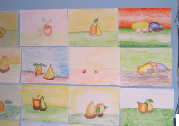 L'esposizione dei disegni